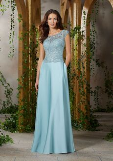 MGNY 71913 Blue,Brown,Green Mother Of The Bride Dress