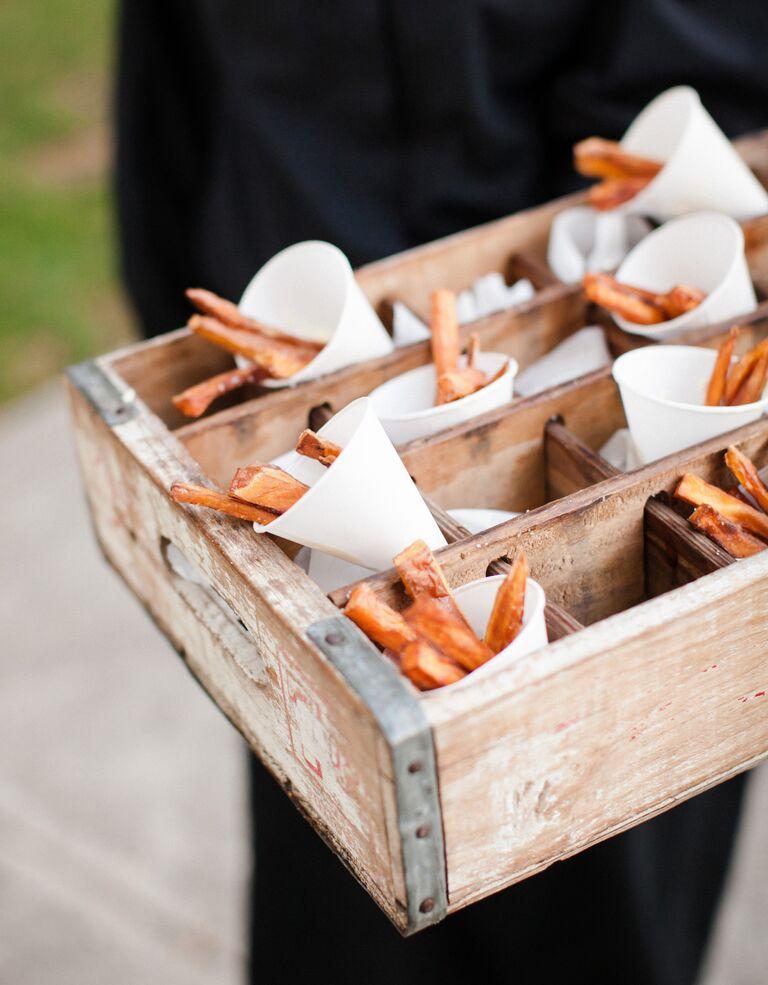 Sweet potato fries wedding catering