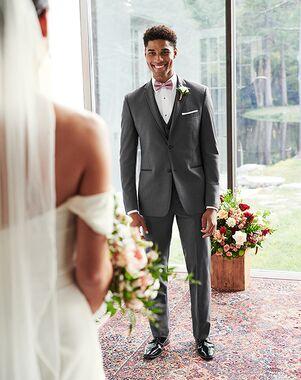 Men's Wearhouse Joseph Abboud® Satin Edge Dark Gray Tuxedo Gray Tuxedo