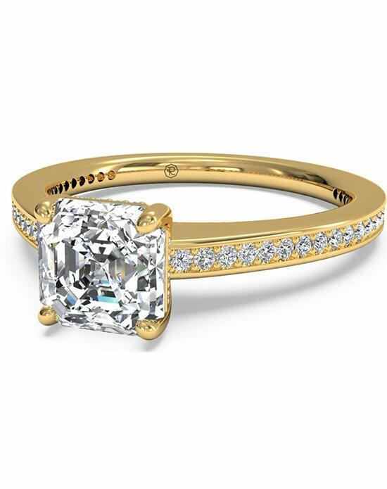 Ritani Asscher Cut Diamond Micropave Band Engagement Ring in 18kt Yellow Gold (0.20 CTW) Engagement Ring photo