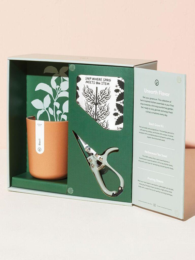 Indoor gardening kit bridal shower gift idea