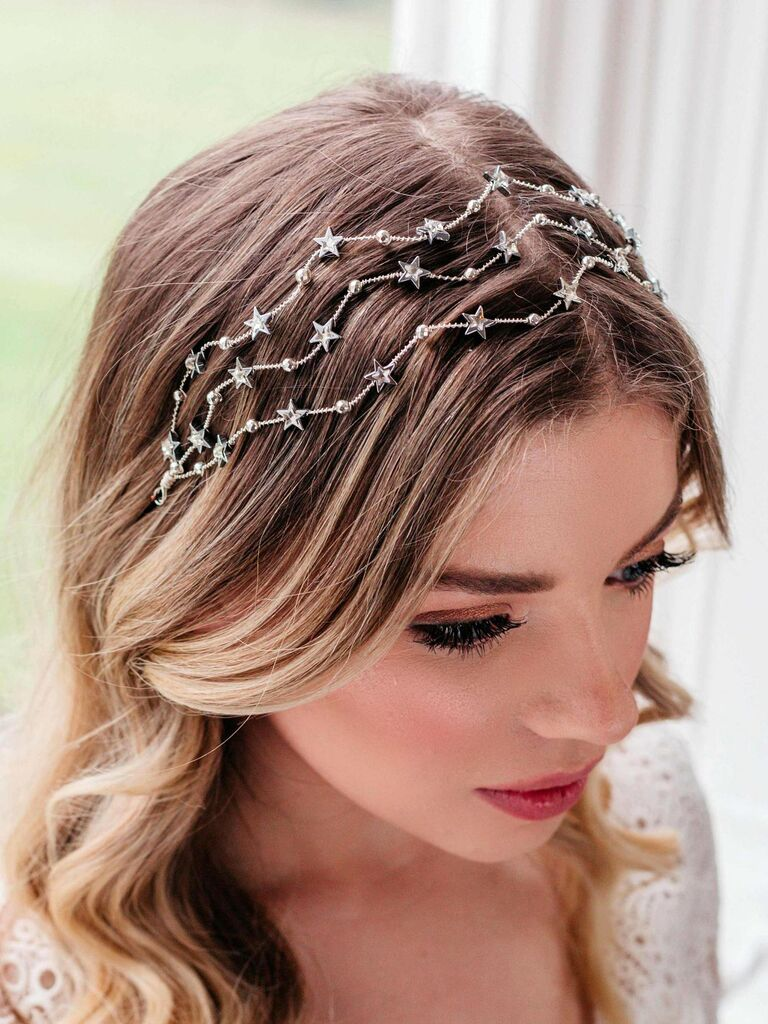 Celestial silver headpiece