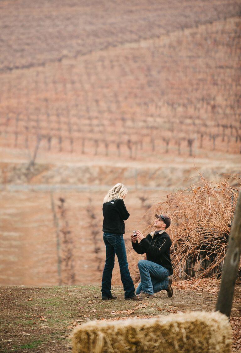 Fall marriage proposal idea