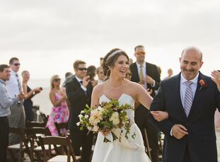 """Candy Neher (30 and an executive assistant) and Sam Facchini (55 and the co-owner of Metro Pizza) met at work—Candy was Sam's executive assistant. """"Ty"""