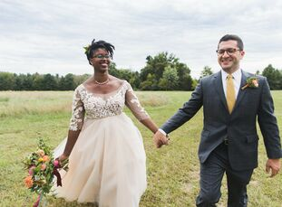 Elizabeth Crowder (30 and a librarian) and Andrew Serota (32 and an attorney) seamlessly blended both of their passions into one wedding. The couple w
