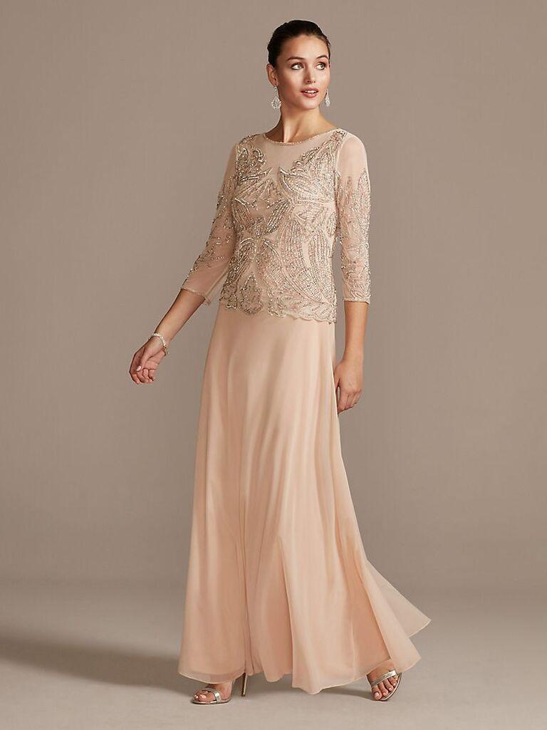 Pisaro Nights sequined and beaded mesh dress