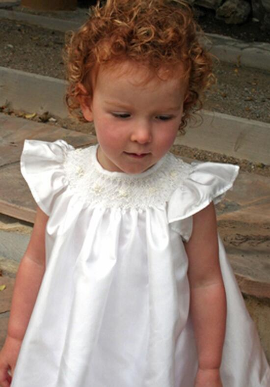 Isabel Garretón Baby Girl Smocked Bishop Flower Girl Dress photo