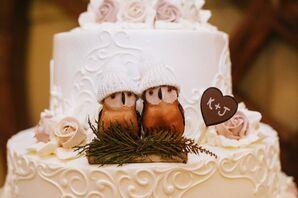 Winter Owl Cake Topper