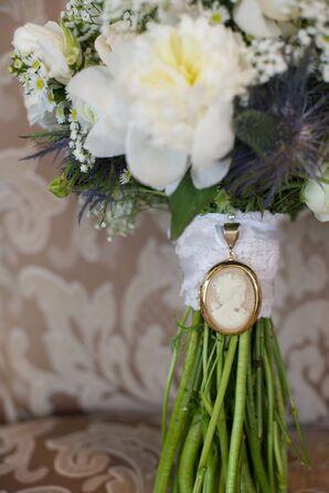 Antique Brooch and Wedding Dress Bouquet Wrap