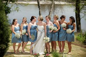 Gray-Blue Bridesmaid Dresses