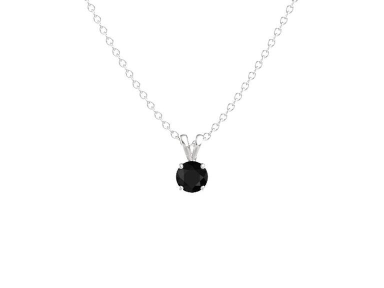 Onyx seventh anniversary gemstone pendant