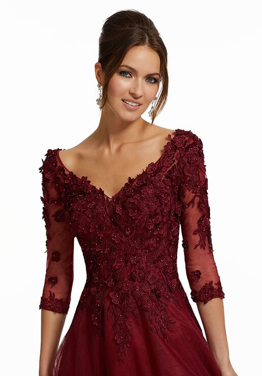 MGNY 72031 Red,Purple,Black Mother Of The Bride Dress