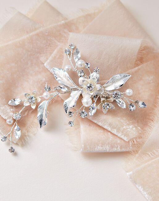 Dareth Colburn Petite Pearl & Floral Wedding Clip (TC-2276) Gold, Pink, Silver Pins, Combs + Clip
