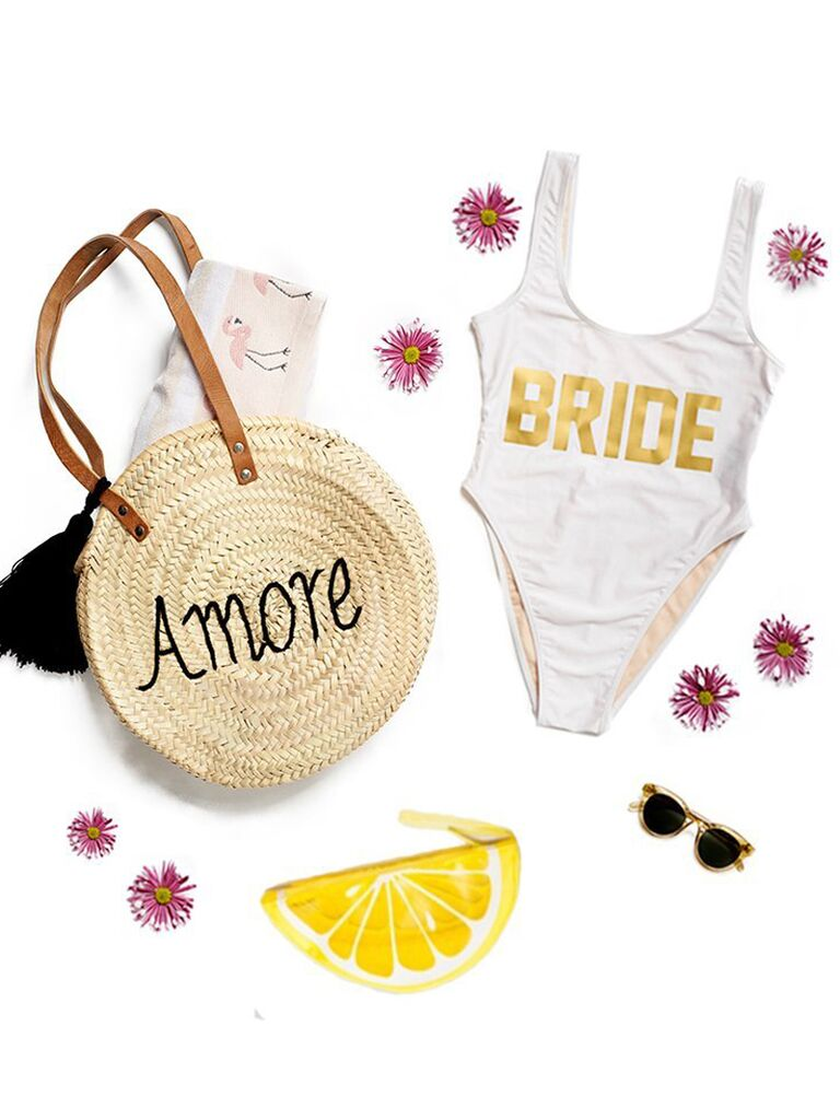 Bride honeymoon set bridal shower gift idea