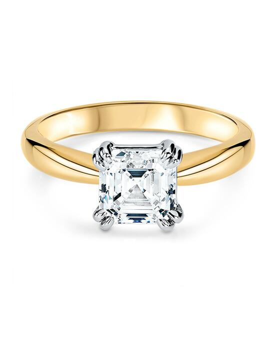 Ritani Solitaire Diamond Tulip Cathedral Engagement Ring - in 18kt Yellow Gold for a Asscher Center Stone Engagement Ring photo
