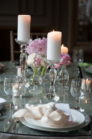 White Candle Table Decor