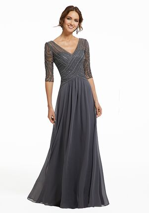 MGNY 72028 Gray,Blue Mother Of The Bride Dress