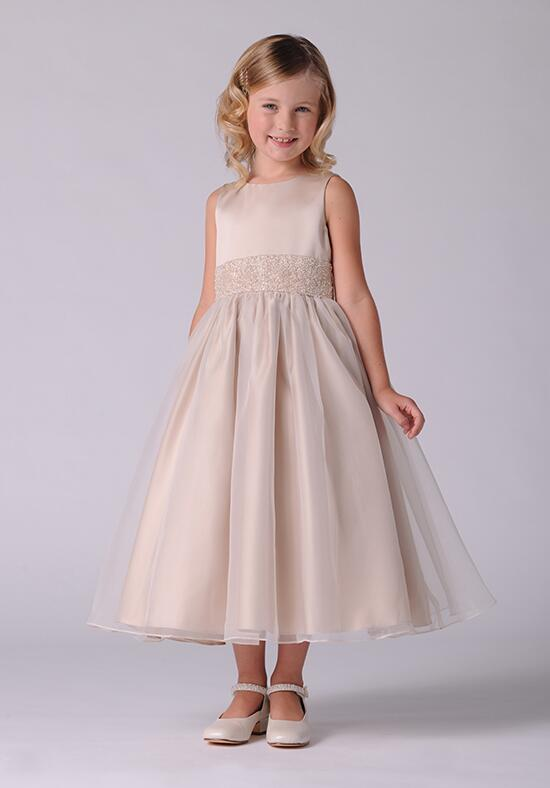 Us Angels Beautiful Color The Elizabeth Dress-172_Champagen Flower Girl Dress photo