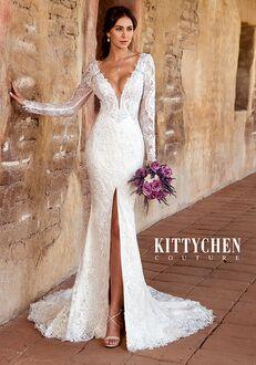 KITTYCHEN Couture FRANCES, K1946 Sheath Wedding Dress
