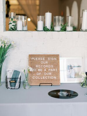 The Newlyweds Asked Wedding Guests to Sign Records In Lieu of a Guest Book