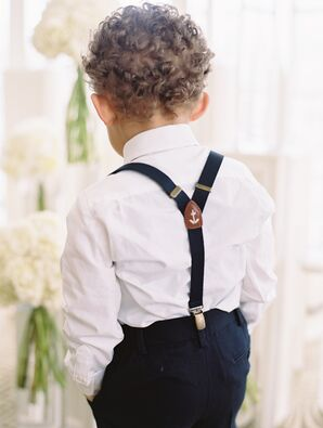 Ring Bearer Suspenders With Anchor Detail