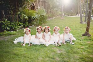 Colorful Flower Crowns for Flower Girls