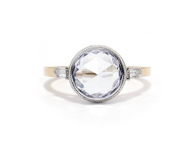 Ashley Zhang rose cut engagement ring