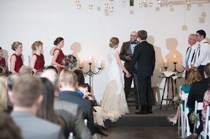 Wedding Ceremony at Christman Manor in Oskaloosa, Kansas