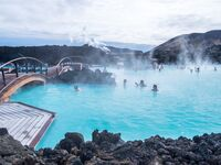 The Blue Lagoon in Iceland, a geothermal spa
