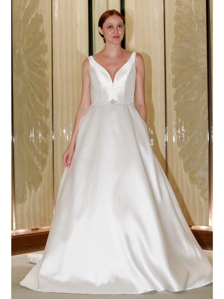 Randy Fenoli Fall 2019 Bridal Collection structured satin full A-line wedding dress
