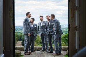 Gray Three-Piece Suits and Floral Bow Ties