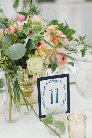 DIY Watercolor Dining Table Numbers
