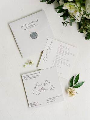 Simple Invitations for Wedding at Segerstrom Center for the Arts in Costa Mesa, California