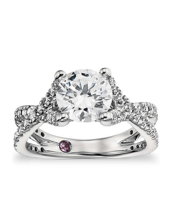 Monique Lhuillier Fine Jewelry Twist Cathedral Diamond Engagement Ring Engagement Ring photo