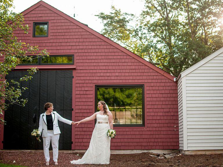 Barn wedding venue in Sturbridge, Massachusetts.