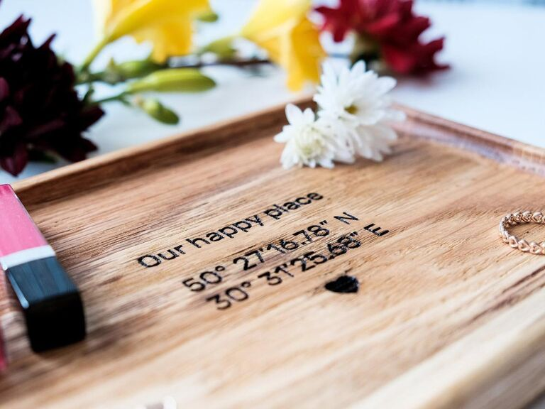Engraved catchall tray gift for boyfriend/girlfriend's parents