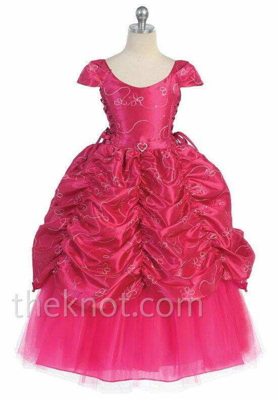 Pink Princess D596 Flower Girl Dress photo