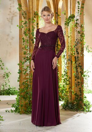 MGNY 71934 Gray,Red,Silver,Purple Mother Of The Bride Dress