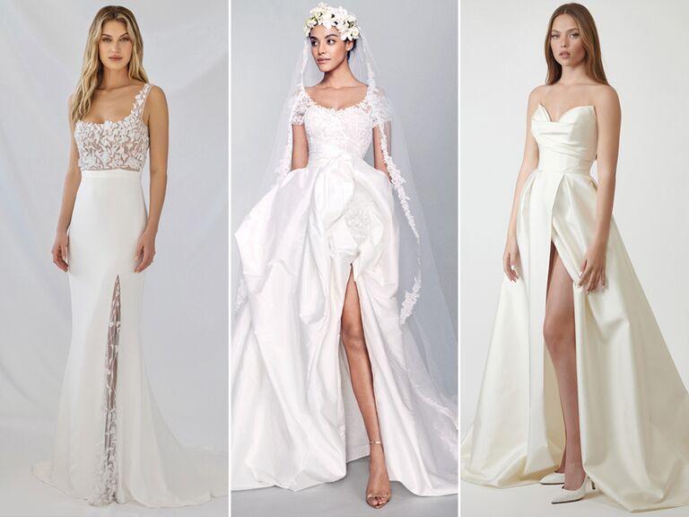 wedding dresses with high slits