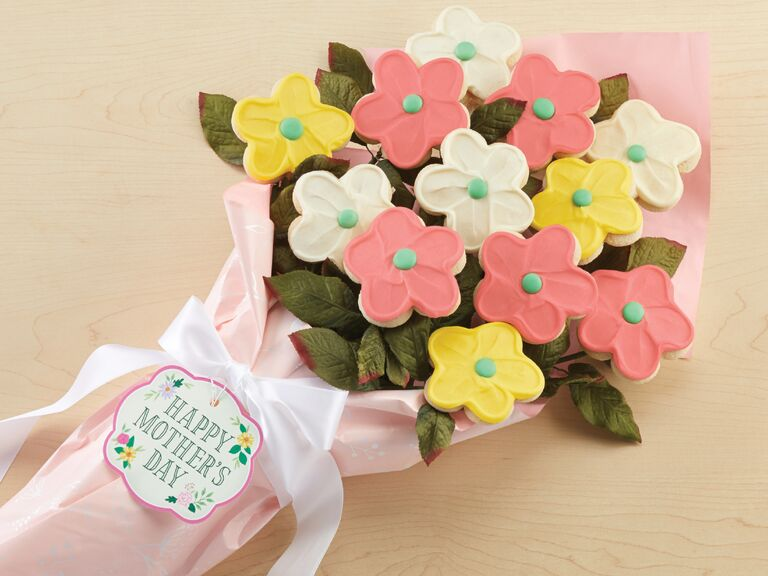 Colorful sugar cookie Mother's Day bouquet