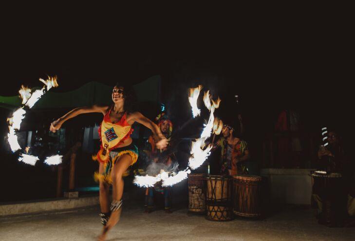 Sangeet Fire Dancers