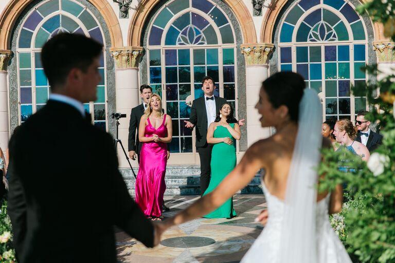 caila quinn wedding flash mob broadway