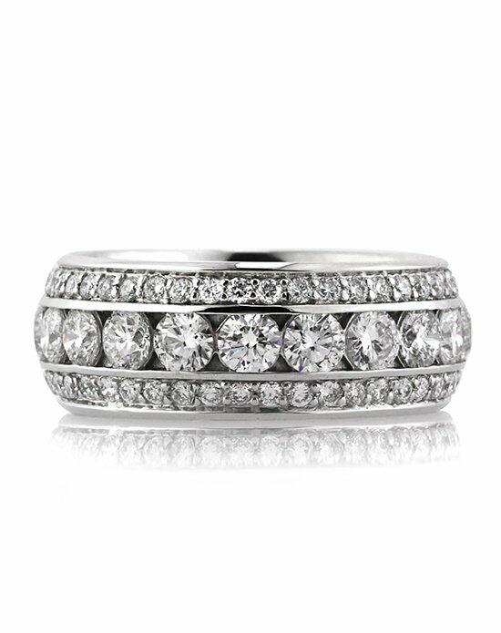 Mark Broumand 3.50ct Round Brilliant Cut Diamond Eternity Band Wedding Ring photo