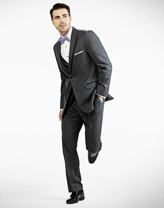 Generation Tux Notch Lapel Modern Fit Charcoal Gray Tux Wedding Tuxedos + Suit photo