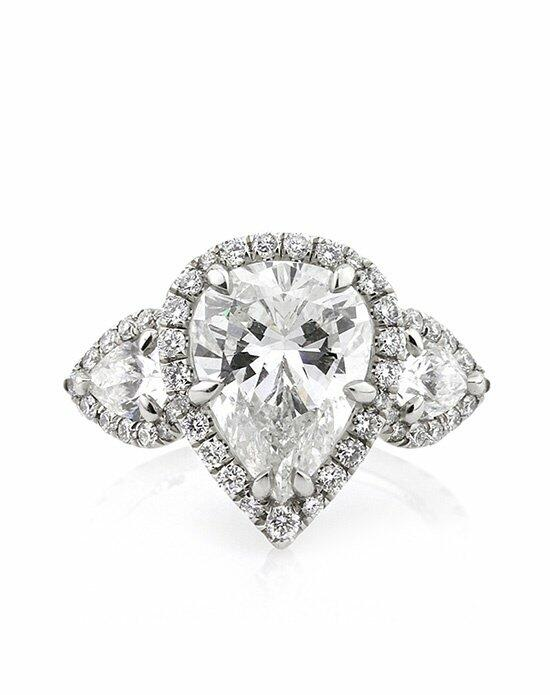 Mark Broumand 5.72ct Pear Shaped Diamond Engagement Anniversary Ring Engagement Ring photo