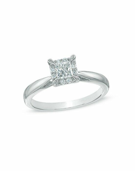 Zales 3/8 CT. T.W. Princess-Cut Diamond Frame Engagement Ring in 14K White Gold  19710540 Engagement Ring photo