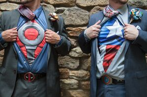Superhero Shirts Underneath Menswear