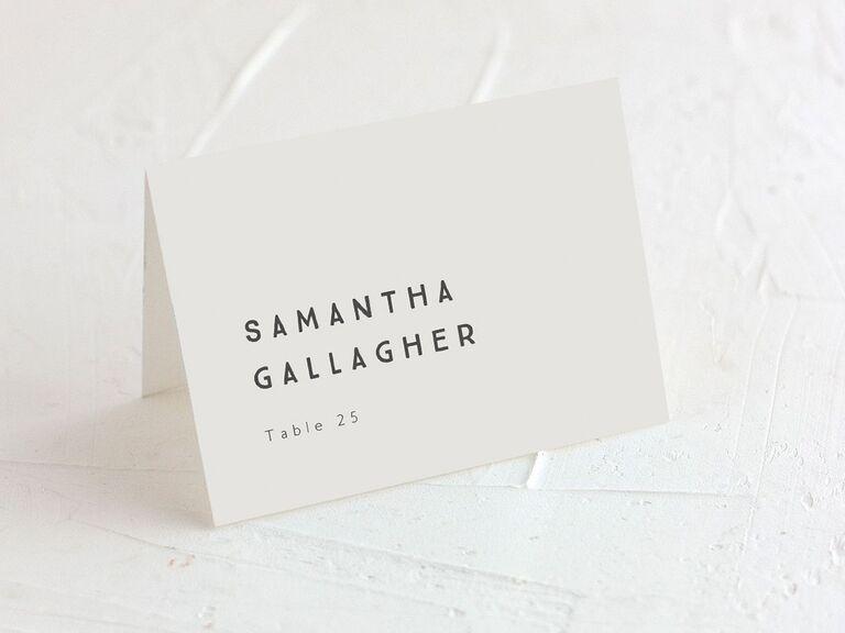 wedding place cards ivory