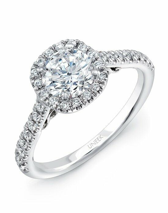 Uneek Fine Jewelry A101CUW-6.0RD Engagement Ring photo