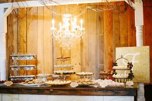 Dessert Bar With Miniature Pies and Cookies